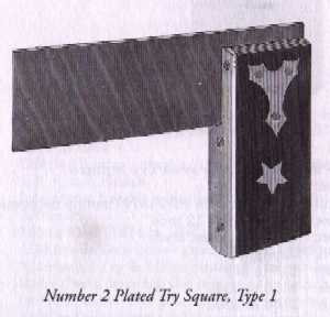 Stanley No. 2 Plated Try Square Type 1