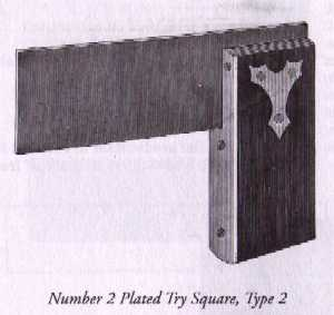 Stanley No. 2 Plated Try Square Type 2
